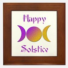 Happy Solstice 4 Framed Tile