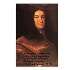 Philosophy: 8 Postcards: Gottfried Leibniz