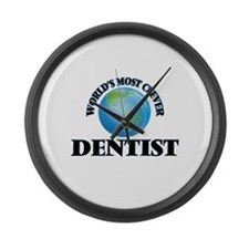 World's Most Clever Dentist Large Wall Clock