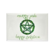 Merry Yule green 2 Rectangle Magnet (100 pack)