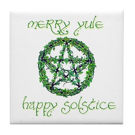 Merry Yule green 2 Tile Coaster