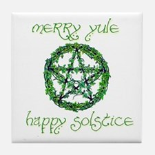 Merry Yule green 2 Tile Coaster