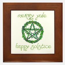Merry Yule green 2 Framed Tile
