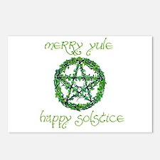 Merry Yule green 2 Postcards (Package of 8)
