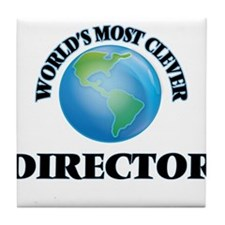World's Most Clever Director Tile Coaster