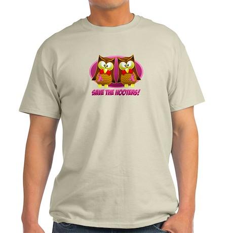 Breast Cancer Owl Light T-Shirt