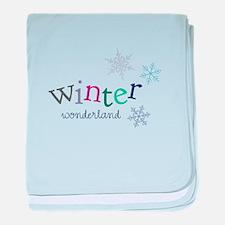 Winter Wonderland baby blanket