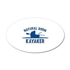 Natural Born Kayaker 22x14 Oval Wall Peel