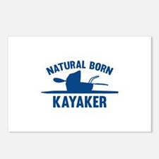 Natural Born Kayaker Postcards (Package of 8)