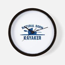 Natural Born Kayaker Wall Clock