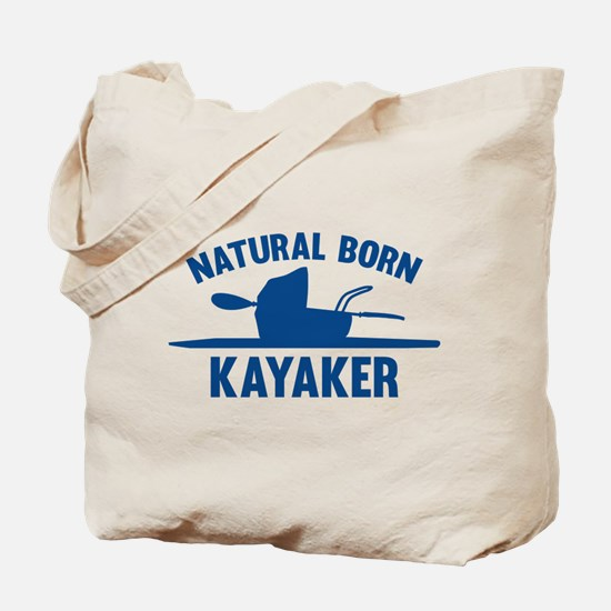 Natural Born Kayaker Tote Bag