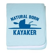 Natural Born Kayaker baby blanket