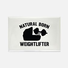 Natural Born Weightlifter Rectangle Magnet