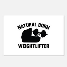 Natural Born Weightlifter Postcards (Package of 8)