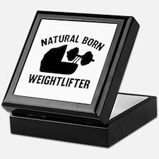 Natural Born Weightlifter Keepsake Box