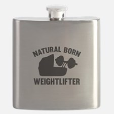 Natural Born Weightlifter Flask