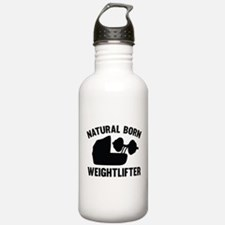 Natural Born Weightlifter Water Bottle