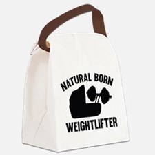 Natural Born Weightlifter Canvas Lunch Bag