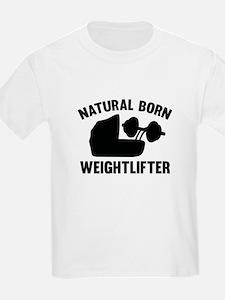 Natural Born Weightlifter T-Shirt
