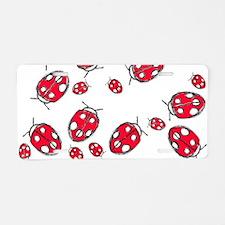 Ladybug Red Aluminum License Plate