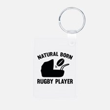 Natural Born Rugby Player Keychains