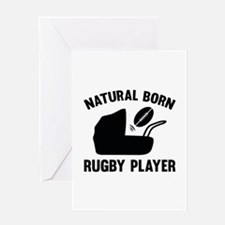 Natural Born Rugby Player Greeting Card
