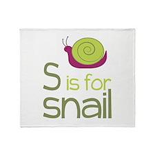 S for Snail Throw Blanket