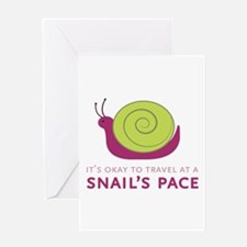 Snails Pace Greeting Cards