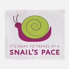 Snails Pace Throw Blanket