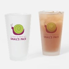 Snails Pace Drinking Glass