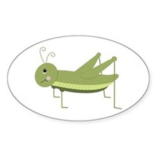 Green Grasshopper Decal