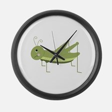 Green Grasshopper Large Wall Clock