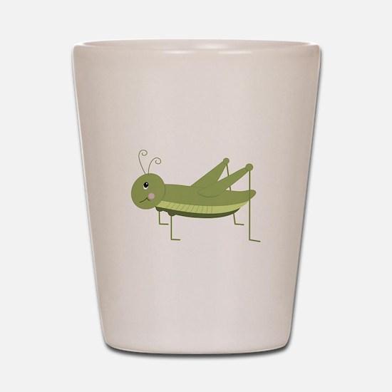 Green Grasshopper Shot Glass