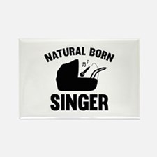 Natural Born Singer Rectangle Magnet