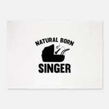 Natural Born Singer 5'x7'Area Rug