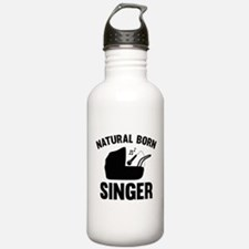 Natural Born Singer Water Bottle