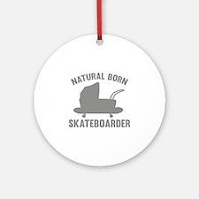 Natural Born Skateboarder Ornament (Round)