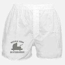 Natural Born Skateboarder Boxer Shorts