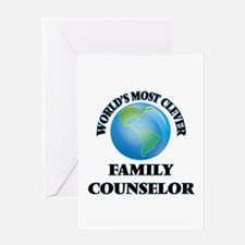 World's Most Clever Family Counselo Greeting Cards