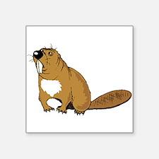 Brown Beaver Sticker