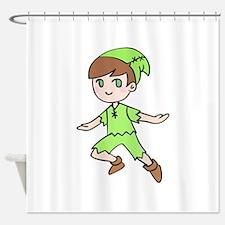 FLYING BOY Shower Curtain