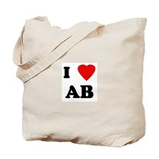 I Love AB Tote Bag