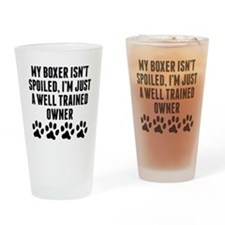 Well Trained Boxer Owner Drinking Glass
