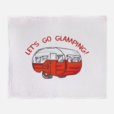 LETS GO GLAMPING Throw Blanket