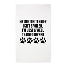 Well Trained Boston Terrier Owner Area Rug