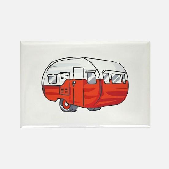 VINTAGE RED CAMPER Magnets