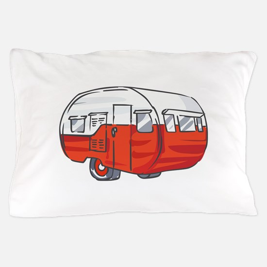 VINTAGE RED CAMPER Pillow Case