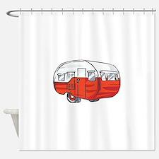 VINTAGE RED CAMPER Shower Curtain