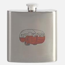 VINTAGE RED CAMPER Flask
