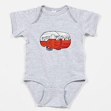 VINTAGE RED CAMPER Baby Bodysuit
